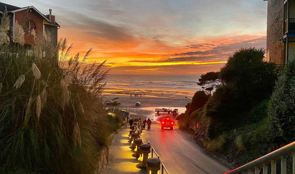 Sunset in Lincoln City, Oregon